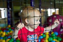 Chłopiec w boisku Obraz Stock