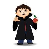 Chłopiec w kostiumu Dracula Obrazy Royalty Free