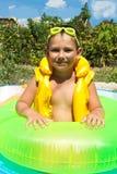 Chłopiec w lifejacket Obrazy Stock