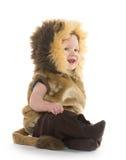 Chłopiec w lwa kostiumu zdjęcia stock