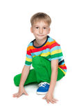 Chłopiec w pasiastej koszula Zdjęcie Stock
