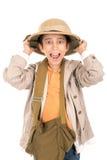 Chłopiec w safari odziewa Obraz Royalty Free