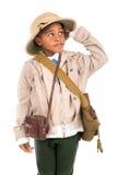 Chłopiec w safari odziewa Obrazy Stock