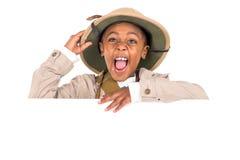 Chłopiec w safari odziewa Fotografia Royalty Free
