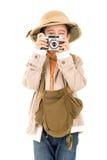 Chłopiec w safari odziewa Zdjęcie Stock