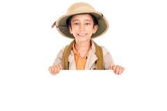 Chłopiec w safari odziewa Obraz Stock