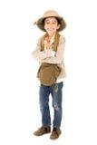 Chłopiec w safari odziewa Fotografia Stock