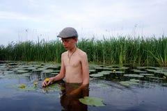 Chłopiec w wodzie Zdjęcie Royalty Free