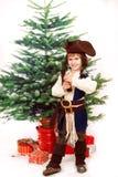 Chłopiec weared galanteryjna suknia obstrukcja Obraz Royalty Free