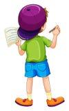 Chłopiec writing Obraz Stock