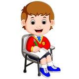 Chłopiec writing i Obraz Stock
