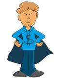 Chłopiec z dolarowym znakiem Obrazy Stock