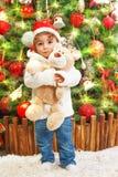 Chłopiec z misiem Fotografia Stock