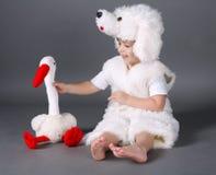 Chłopiec z psim kostiumem Obraz Royalty Free