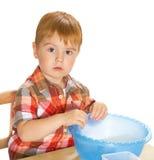 Chłopiec z zabawkami Fotografia Royalty Free
