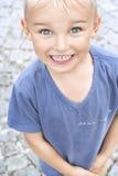 chłopiec zabawy s lato potomstwa Zdjęcie Royalty Free
