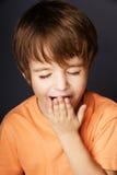 chłopiec ziewanie Obraz Royalty Free