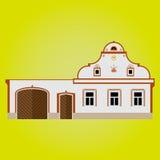 Chłopski barokowy kraju budynek Ilustracji
