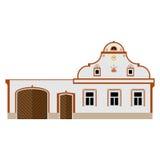 Chłopski barokowy kraju budynek Royalty Ilustracja