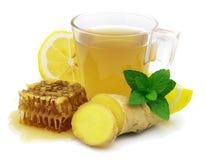 Chá quente do gengibre Imagem de Stock