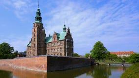 Ch?teau de Rosenborg, Copenhague, Danemark banque de vidéos