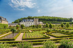 Château de Villandry, France. Buildings of Castle and ornamental garden Royalty Free Stock Photo