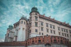 Ch?teau de Wawel ? Cracovie image libre de droits