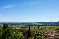 Châteauneuf-du-Pape and the Rhône River Royalty Free Stock Image