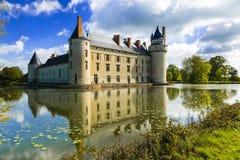 Ch?teaux m?di?vaux romantiques du Val de Loire - beau Le Plessis-Bourre, France photographie stock libre de droits
