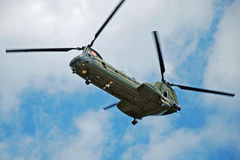 CH47 Helicopter in the air Royalty Free Stock Images
