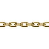 Chaîne d'or 3D en métal Illustration de vecteur Photographie stock