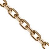Chaîne d'or 3D en métal Illustration de vecteur Photo stock