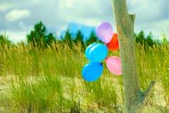 Chaîne de ballon sur la plage de dune de sable Photo libre de droits