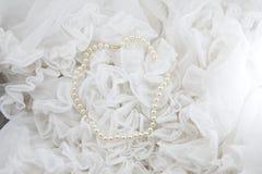 chaîne de caractères de perles Photographie stock