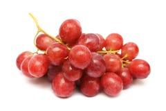 Chaîne de caractères de raisins rouges Images libres de droits