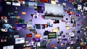 Chaîne de clips vidéo au grand coup illustration libre de droits