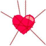 Chaîne de coeur illustration de vecteur