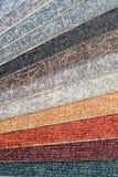 Chaîne de couleur des échantillons de tapis Images stock
