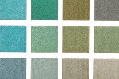 Chaîne de couleur des échantillons de tapis Photo libre de droits