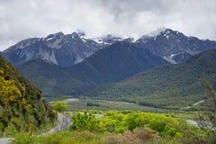 Chaîne de Craigieburn, Nouvelle-Zélande Photographie stock