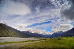 Chaîne de Craigieburn, Nouvelle-Zélande Photos stock