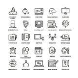 Chaîne de fabrication créative icônes de vecteur Image libre de droits