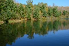 Chaîne de fer de lac mine de Yawkey - Minnesota images libres de droits