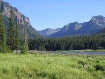 Chaîne de Hyalite Reservoir&Mtn Images stock