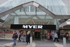 Chaîne de magasin de MYER Australian images libres de droits