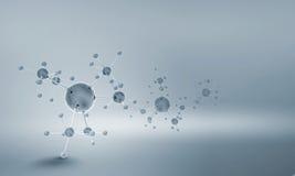 Chaîne de molécule image libre de droits
