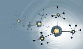 Chaîne de molécule photographie stock