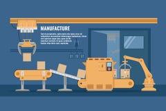 Chaîne de montage automatisée conception illustration stock