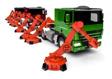 Chaîne de montage de camion Image libre de droits