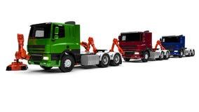 Chaîne de montage de camion Photographie stock libre de droits
